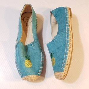 143 Girl Turquoise Espadrilles Pineapple 7M